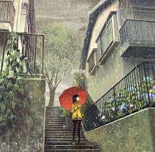 星期一天氣雨